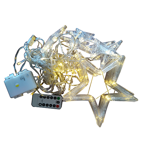 USB and battery powered star curtain light with remote controller