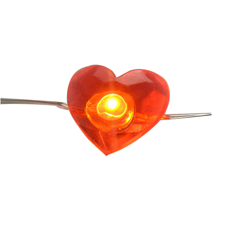 Heart led copper wire fairy string wedding string