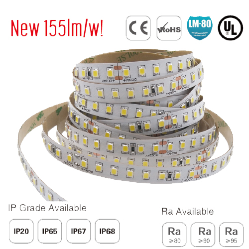 smd2835 128led/m ul led soft strip 155lm/w