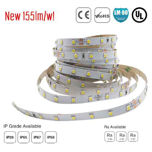 smd2835 64led/m ul led soft strip 155lm/w