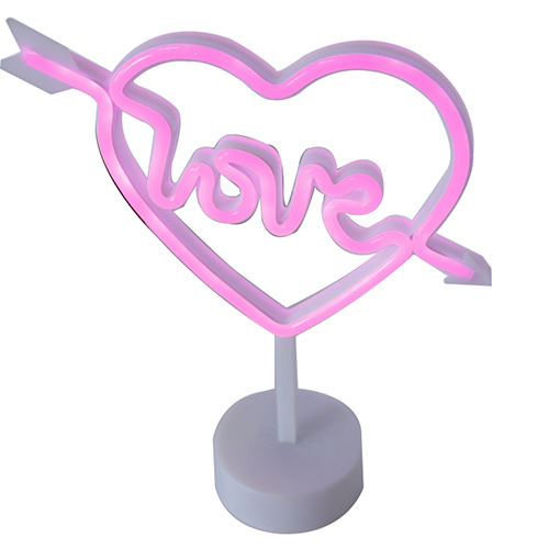 Love heart led neon light wedding decoration