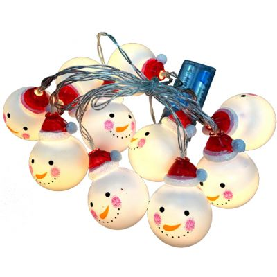 Snowman led christmas string