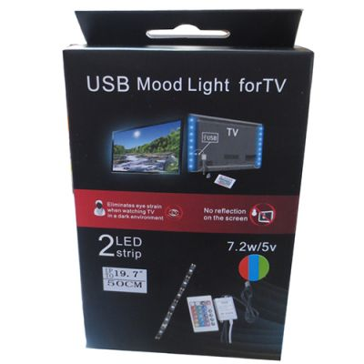 USB rgb mood light kit for TV usb tv mood light