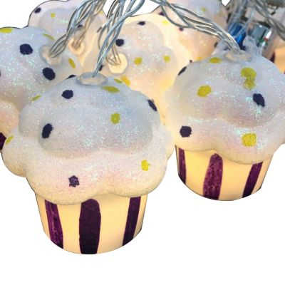 Cupcake led fairy string for birthday party